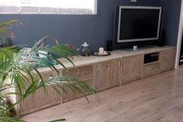 de Steigeraar :: Steigerhout tv-meubel Duo