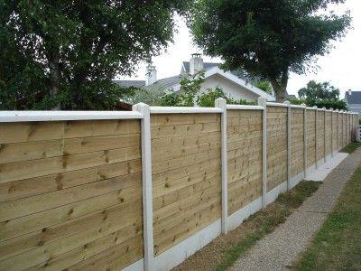 Création de clôture mitoyenne occultante mixte béton et bois