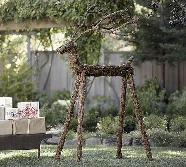 Outdoor Lit LED Twig Deer #potterybarn