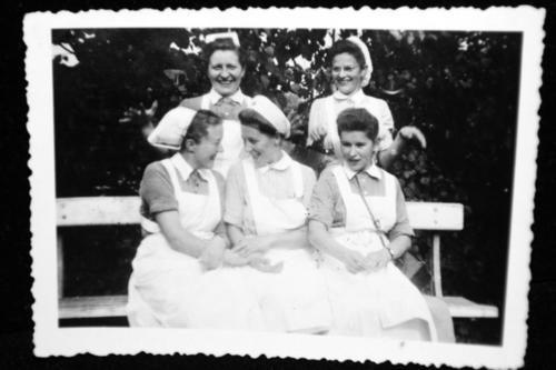 A group of happy Geman nurses
