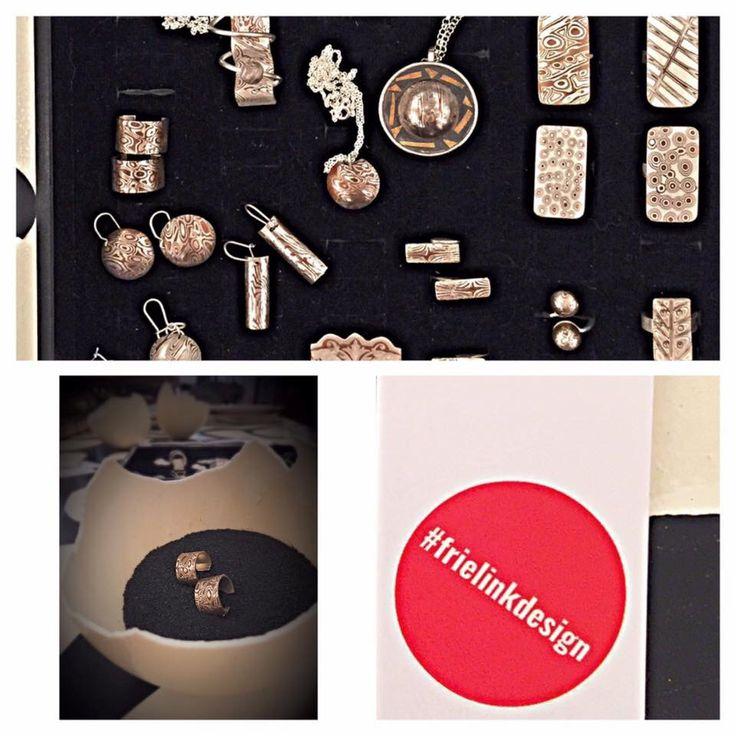 Nieuwe naam bij #GalleryHartWare Frielink Design. Sieraden gemaakt dmv een oude Japanse smeedtechniek, mokume-gane #Haverstraatpassage #Enschede