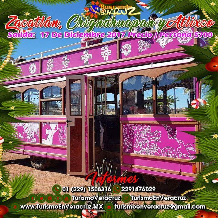 Este 17 de diciembre toma tu mochila y acompáñanos a #Zacatlán #Chignahuapan y #Atlixco saliendo de #Veracruz #Cardel y #Xalapa costo por persona $700  ¡ Reserva Tu Lugar YA ! Tels: 01 (229) 150 83 16 WhatsApp: 2291476029 Email: turismoenveracruz@gmail.com http://www.buscandoenveracruz.com/2017/11/excursion-a-atlixco-chignahuapan-y-zacatlan-de-veracruz-cardel-y-xalapa/
