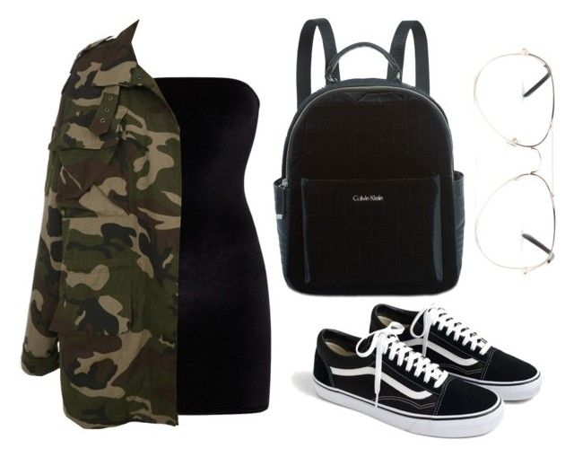 """Camo In Black"" by liaperezmorales on Polyvore featuring J.Crew, Armitage Avenue and Calvin Klein"