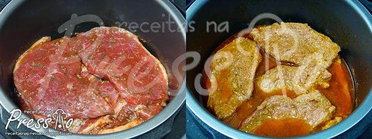 Está cansado daquele bifinho frito básico? Experimente essa deliciosa e prática receita de bife de panela de pressão! Não tem segredos, v...