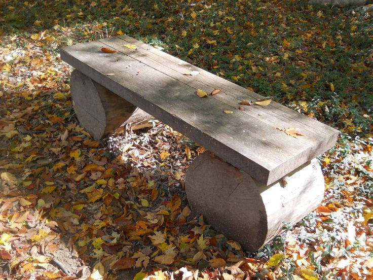 This bench is simply made out of two trunk pieces of wood from a tree and. 34 best Garden Furniture images on Pinterest