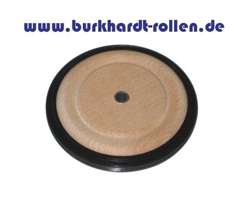 Holzrad,Gummireifen 100x12mm,Stahlbuchse