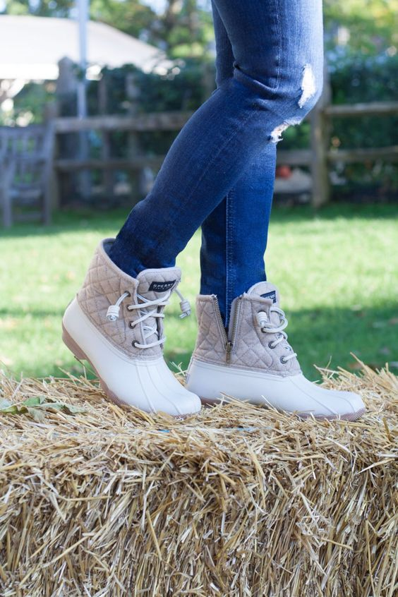 Quilted Sperry Duck Boots, Women's Shoes, Back in stock!