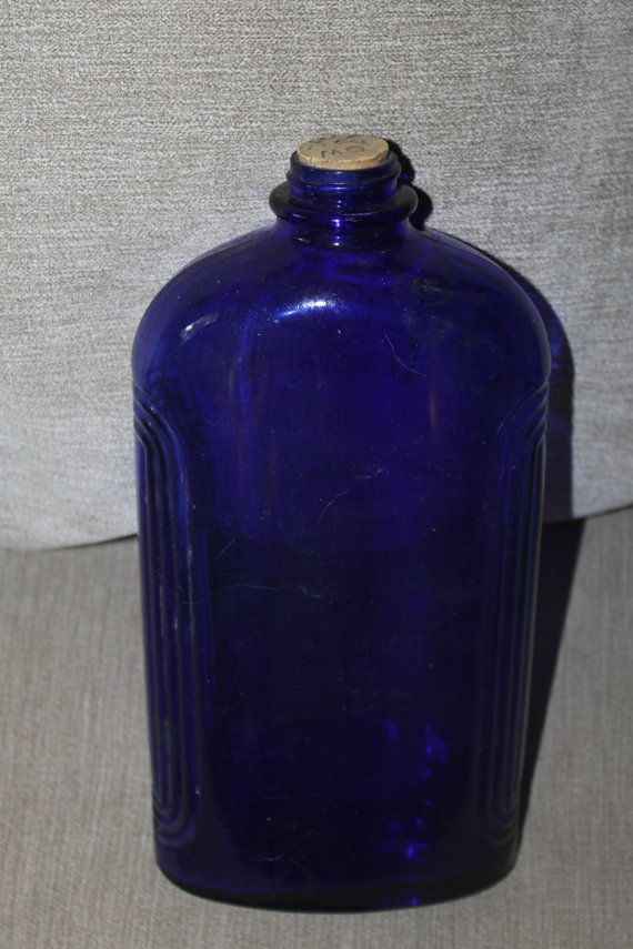 Hey, I found this really awesome Etsy listing at https://www.etsy.com/listing/233487271/cobalt-blue-glass-bottle-large-used-for