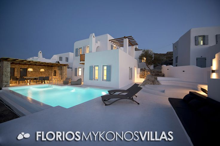 The way we have developed Villa Pearl in Mykonos through the bold rupture of old and new, manages to create a sense of communication between the past and the future. FMV1327 Villa for Rent on Mykonos island, Greece. http://florios-mykonos-villas.com/property/fmv1327/