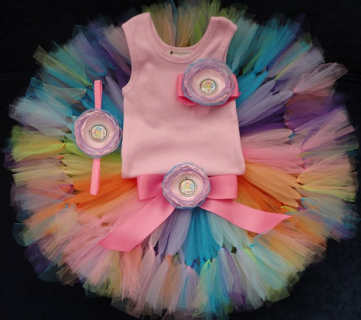 Care Bear Birthday Dress, Rainbow Tutus for Baby Girls Birthday by StrawberrieRose on Etsy https://www.etsy.com/listing/225163909/care-bear-birthday-dress-rainbow-tutus