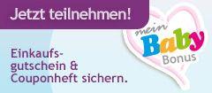 Müller mein Baby Bonus (Ein dickes Gutscheinheft, viele verschiedene Probepäckchen; u.a. Feuchttücher, Handcreme, Deo, Carefree, PantenePro V)