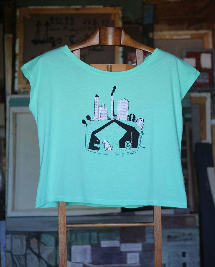 Grua come perro menta Camiseta de corte muy amplio, 100% algodón orgánico. 30,00€