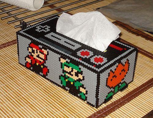 Custo boite à mouchoir   Perles hama   Pinterest   Super Mario ...