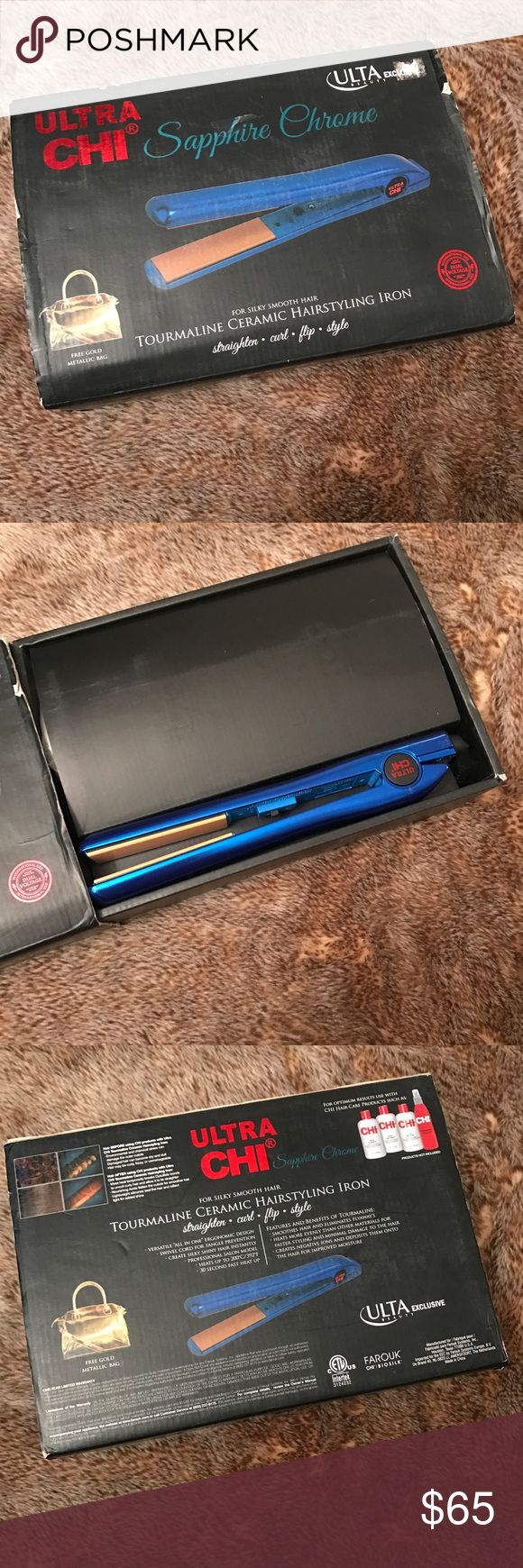 Chi Hair Straightener Brand new. Never used. Includes metallic bag as well :) Chi Accessories Hair Accessories