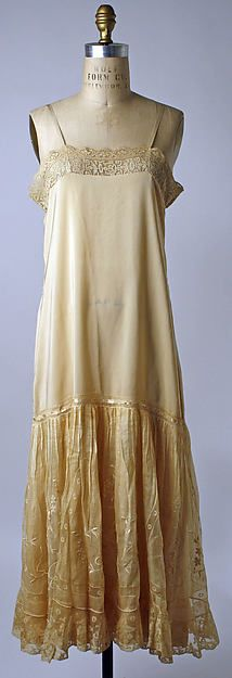 Slip Date: 1920s Culture: American or European Medium: silk Dimensions: [no dimensions available] Credit Line: Gift of Mrs. Alice Raphael, 1945 (Donor does not want name mentioned in Museum publicity) Accession Number: C.I.45.134.5