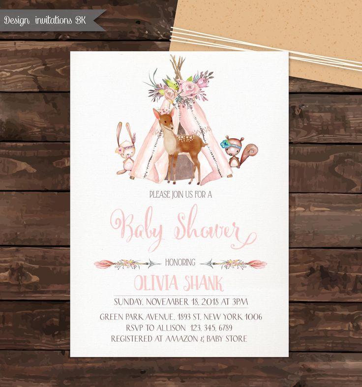 bridal shower invitations registry etiquette%0A Baby Shower Invites Woodland  Baby Shower Invitation Woodland Theme   Woodland Baby Shower invites