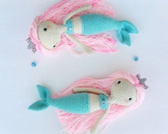 Crochet Amigurumi Mermaid PATTERN ONLY PDF от KornflakeStew