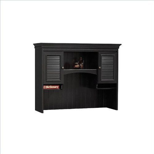 Bush Furniture Stanford Collection Hutch in Antique Black with Hansen Cherry Finish by Bush. Save 39 Off!. $212.95. Antique black/cherry finish. Easy assembly. Turn your office into a classy castle with the stately Bush Stanford Desk Hutch, which fits easily atop the Bush Stanford Black Computer Desk. This mid to upper end hutch features a rich antique black and hansen cherry finish, subtle dentil and crown moldings, antique-style hardware and other beautiful details. Features: Extra shel...