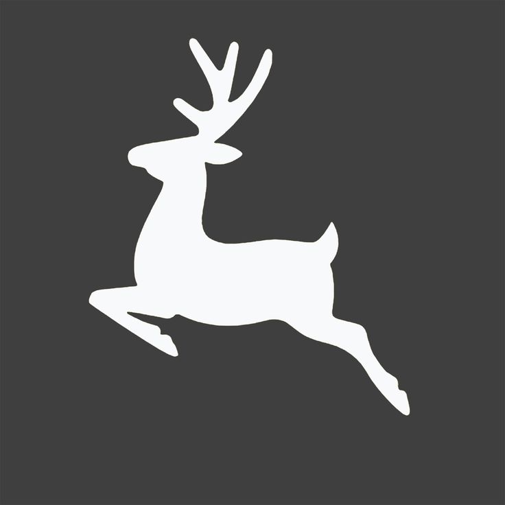 Entirely Eventful Day: Free Reindeer Silhouette Christmas Printable
