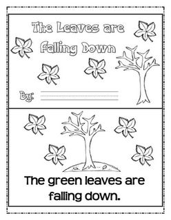 Freebie emergent reader, letter matching game, leaf color graph