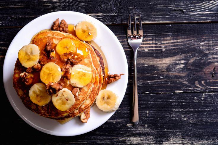 Gezonde recepten - Deze glutenvrije, lactose vrije, bananen pannenkoeken zijn ideaal als gezonde ontbijtje, lunch of snack. Ze zijn ook nog eens super makkelijk om te maken.  Recept: http://freshhh.nl/recepten/bananen-pannenkoeken-3-ingredienten/