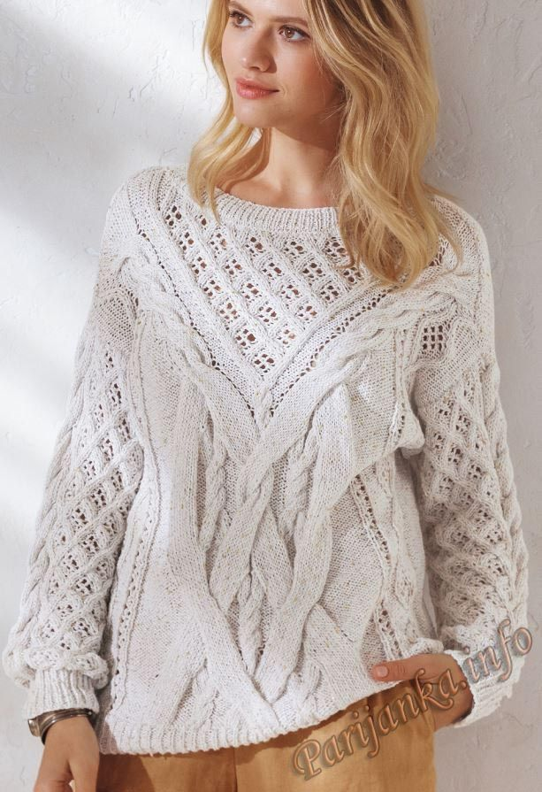 Пуловер (ж) 14*153 Phildar №5043