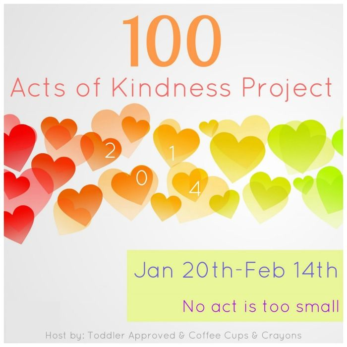 100 Acts of Kindness Project 2014! Join in the 4 week kindness challenge and spread some kindness with you class or family! There will be newsletters and posts ideas to help inspire you to do good this year.