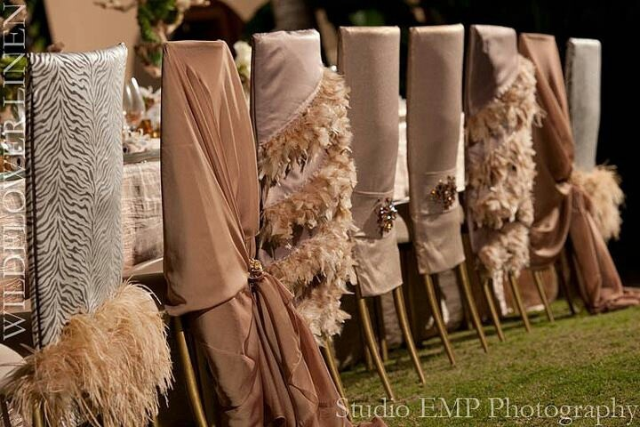 ideas for chair covers via wildflower linens