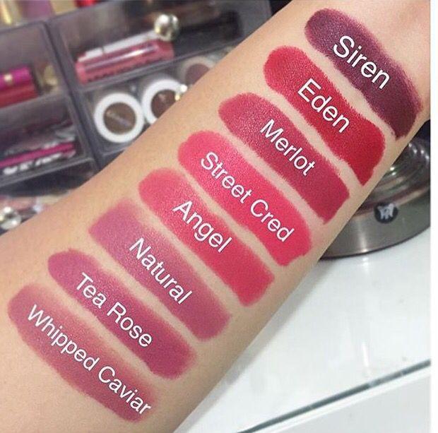 NYX Matte Lipstick Swatches