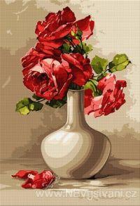 HU-B569 Váza s růžemi