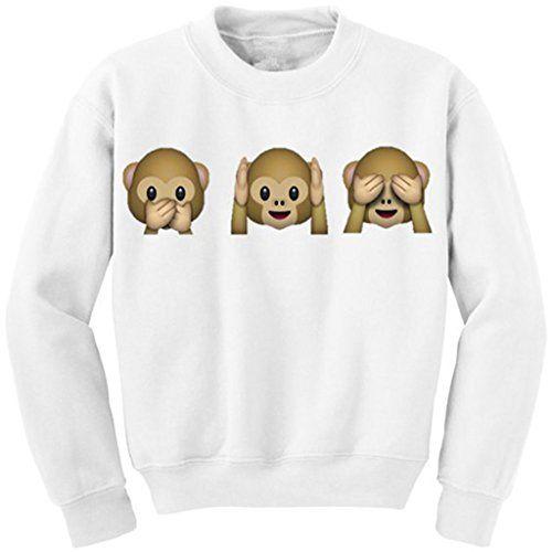 Jiayiqi Mujeres Mono Travieso Suéter Dibujos Animados Animales Sudadera Pullover Para El Invierno #camiseta #friki #moda #regalo