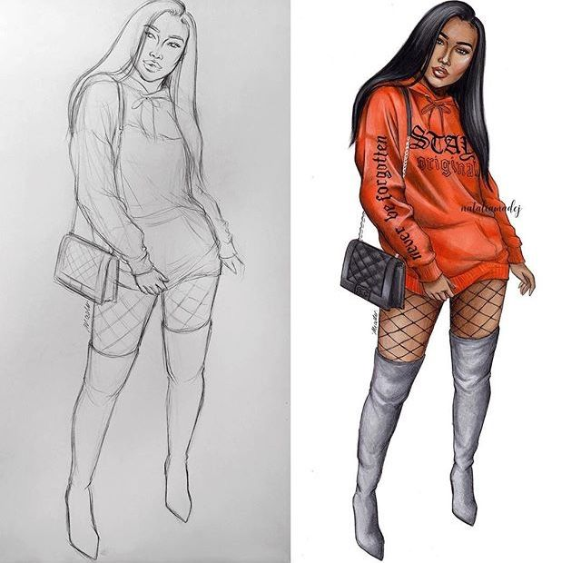 Pinterest Kassy089 Follow Meee Fashion Illustration Girl