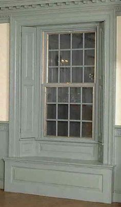 Embrasured window frame common from Georgian to Early Victorian homes