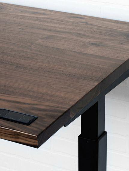 Sway: Electric standing desk built in 4 varieties of solid wood