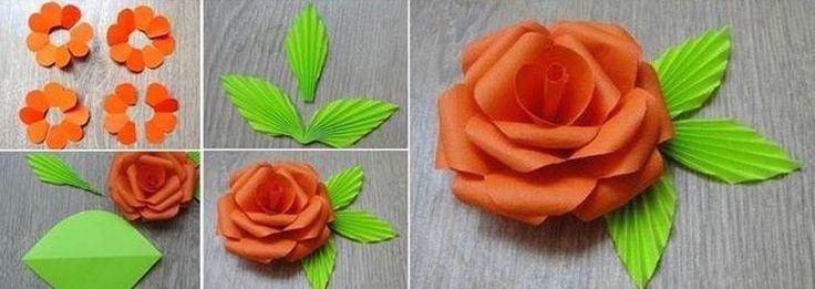 Hobi Fikirleri https://www.hobisanat.com/blog/hobi-fikirleri/3 - Karton Kağıtlardan Gül Yapımı