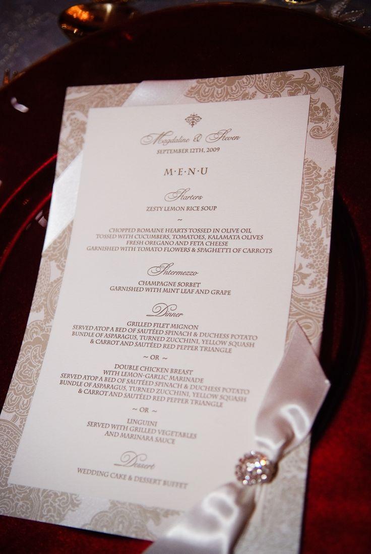 how to make invitation letter for vispurpose%0A dinner menu with Swarovski crystal