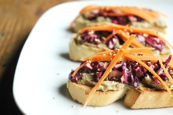 Hummus de lentejas pardinas con marinado de lombarda {Ventanas Verdes} | Natural