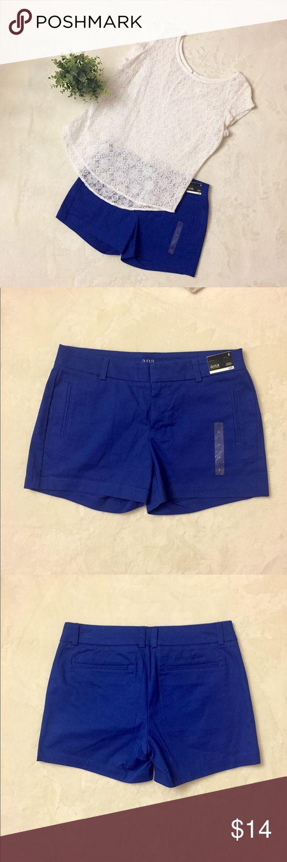 NWT a.n.a Cobalt Blue Twill Shorts, Size 6 NWT a.n.a Cobalt Blue Twill Shorts, Size 6 a.n.a Shorts