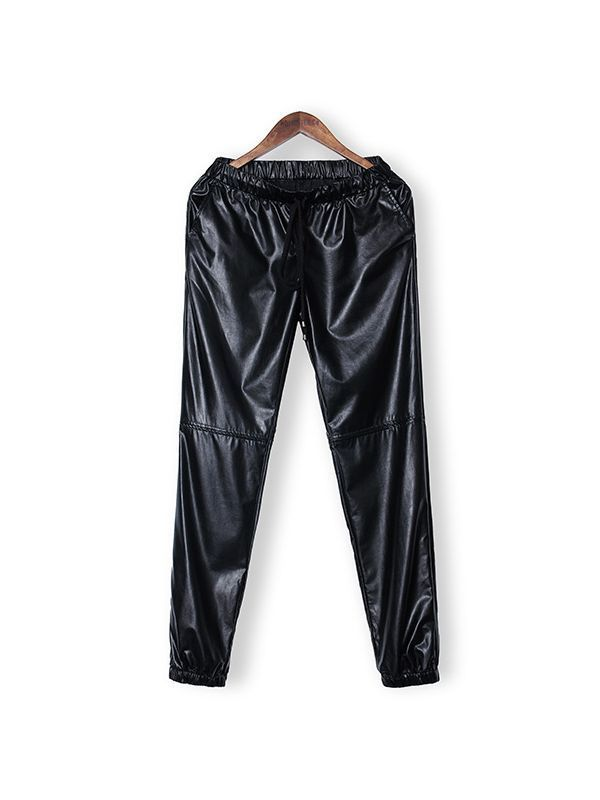 Casual women faux leather trousers elastric waist loose pants pants trousers american english #cotton #trousers #pants #differenza #tra #trousers #e #pants #trousers #or #pants #england #types #of #trousers #and #pants