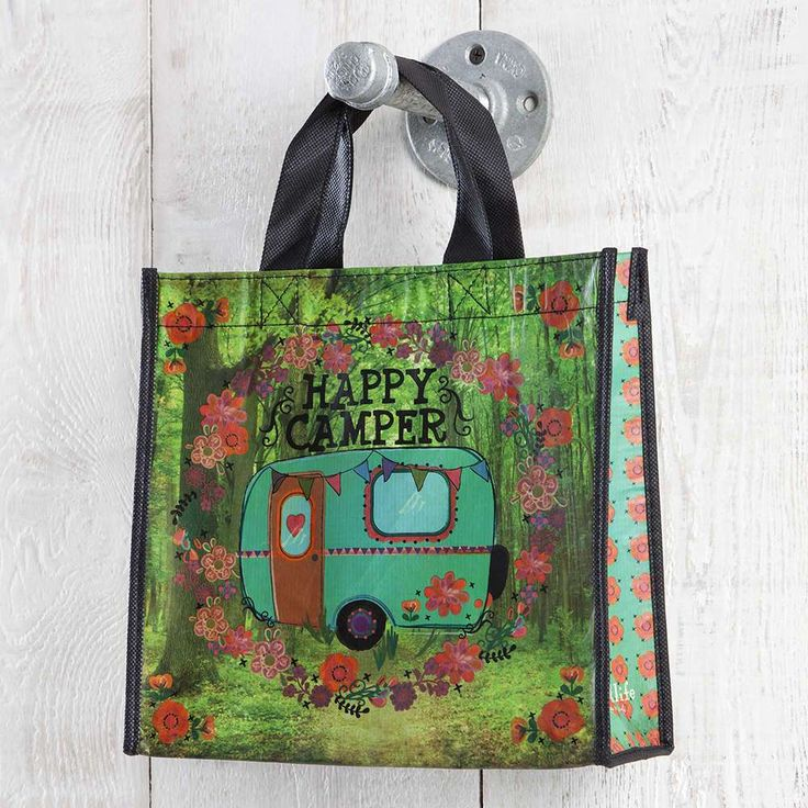 Happy Camper Medium Recycled Gift Bag