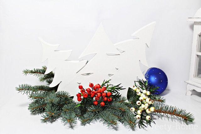 DUŻA DREWNIANA CHOINKA ozdoba świąteczna WZORY - sweety-home - Dekoracje: drewno