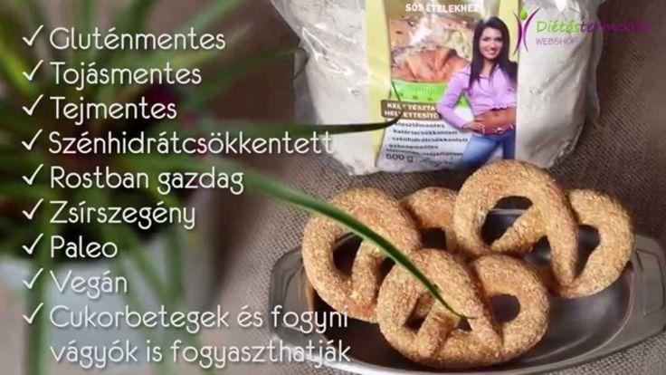 Szafi Fitt diétás mindenmentes rostos sós perec (paleo, vegán perec recept)