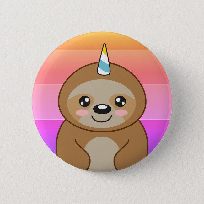 Slothicorn Cute Unicorn Kawaii Cartoon Sloth Button Zazzle Com Cute Unicorn Cute Cartoon Animals Cute Cartoon