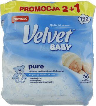 Velvet, Baby, chusteczki nawilżane dla dzieci i niemowląt, 192 szt., nr kat. 219721