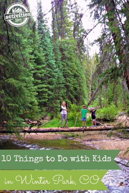 There are tons of things to do with kids in Winter Park, CO. We love Colorado in the summer because of all the activities. It is a great family vacation.
