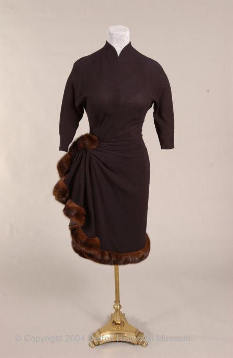dress ca. 1956 via The Detroit Historical Museum Costume Collection