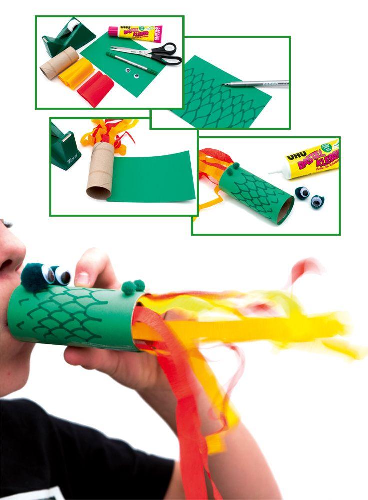 Mit diesem lustigen Drachen wird jede Party ein Hit! Wir zeigen Ihnen auf www.pagro.at, wie Sie diesen Feuer speienden Drachen nachbasteln können!