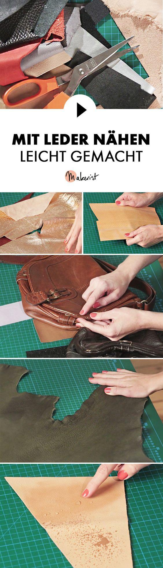 Tipps zum Nähen mit Leder – Nähtipps via Makerist.de Stricki