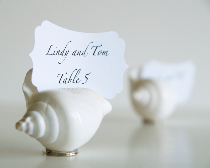 shell place cards wedding table decorations 10 beach wedding seating holders sea white shabby