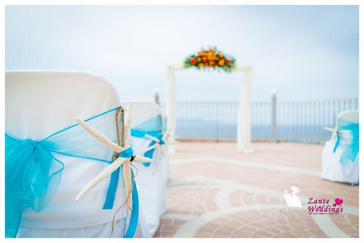 Beach themed wedding decorations!